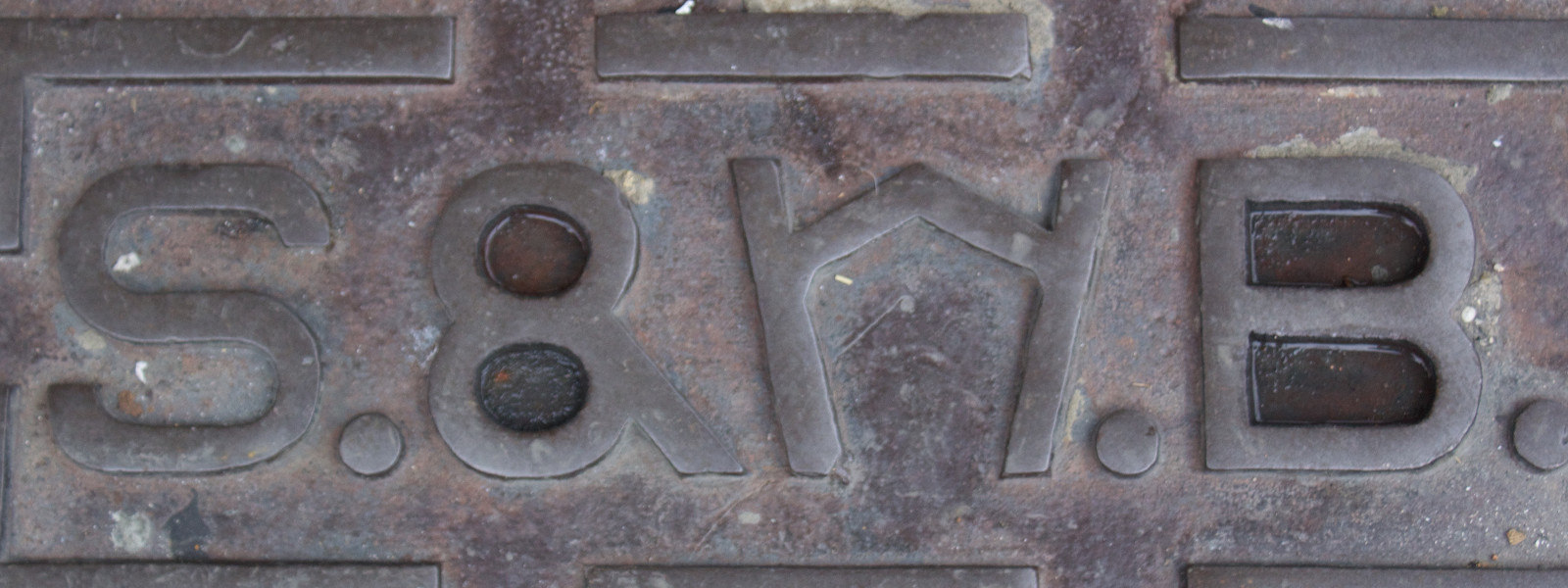 Water utility panel with weird type.